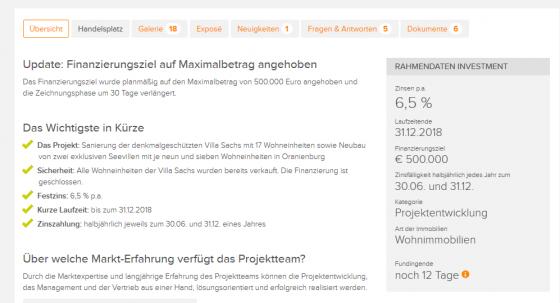 Bergfürst Informationen und Zinsen