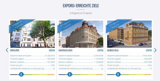 Erfolgreiche Immobilien-Investitionen bei Exporo