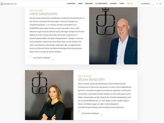 Gründer von MOMENTUM - Hans Sandmann und Selma Bendorff