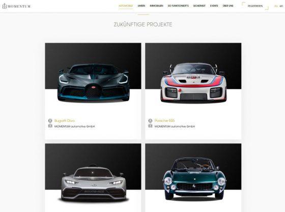 Zukünftige Automobil-Projekte bei MOMENTUM