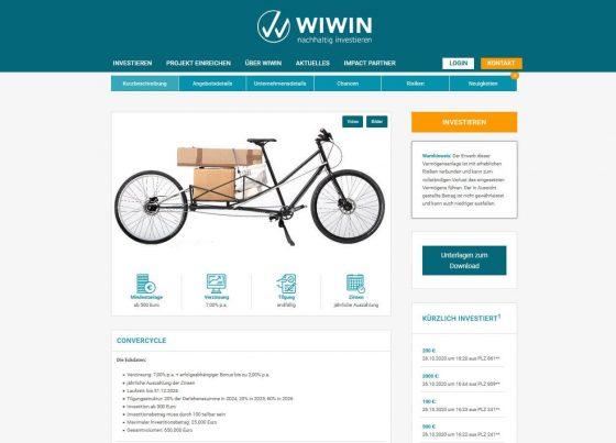 WIWIN Projektseite mit Chancen. Risiken und weiteren Informationen